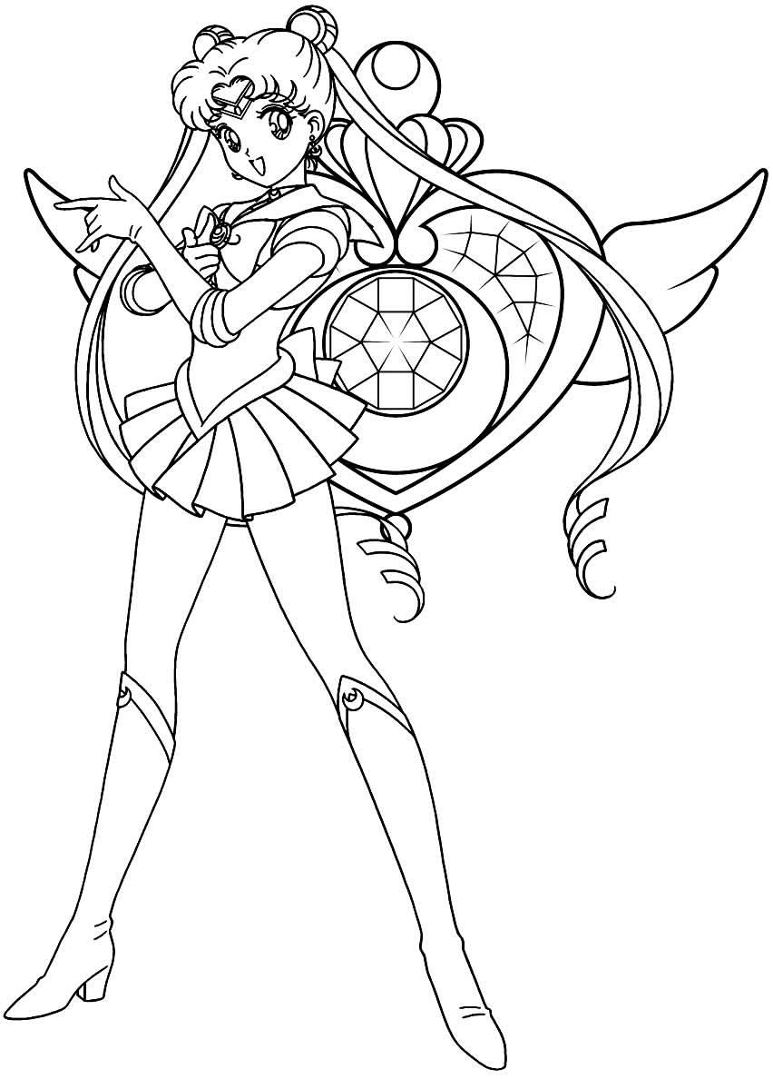 Desenho de Sailor Moon para colorir