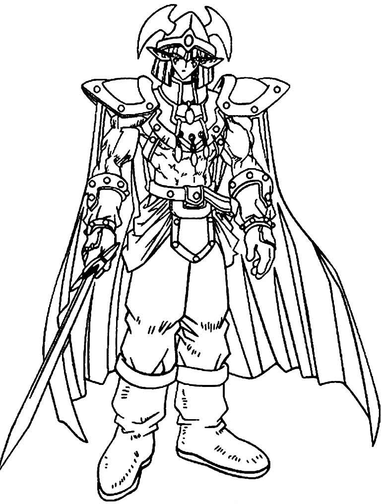Desenho de Yugioh para colorir