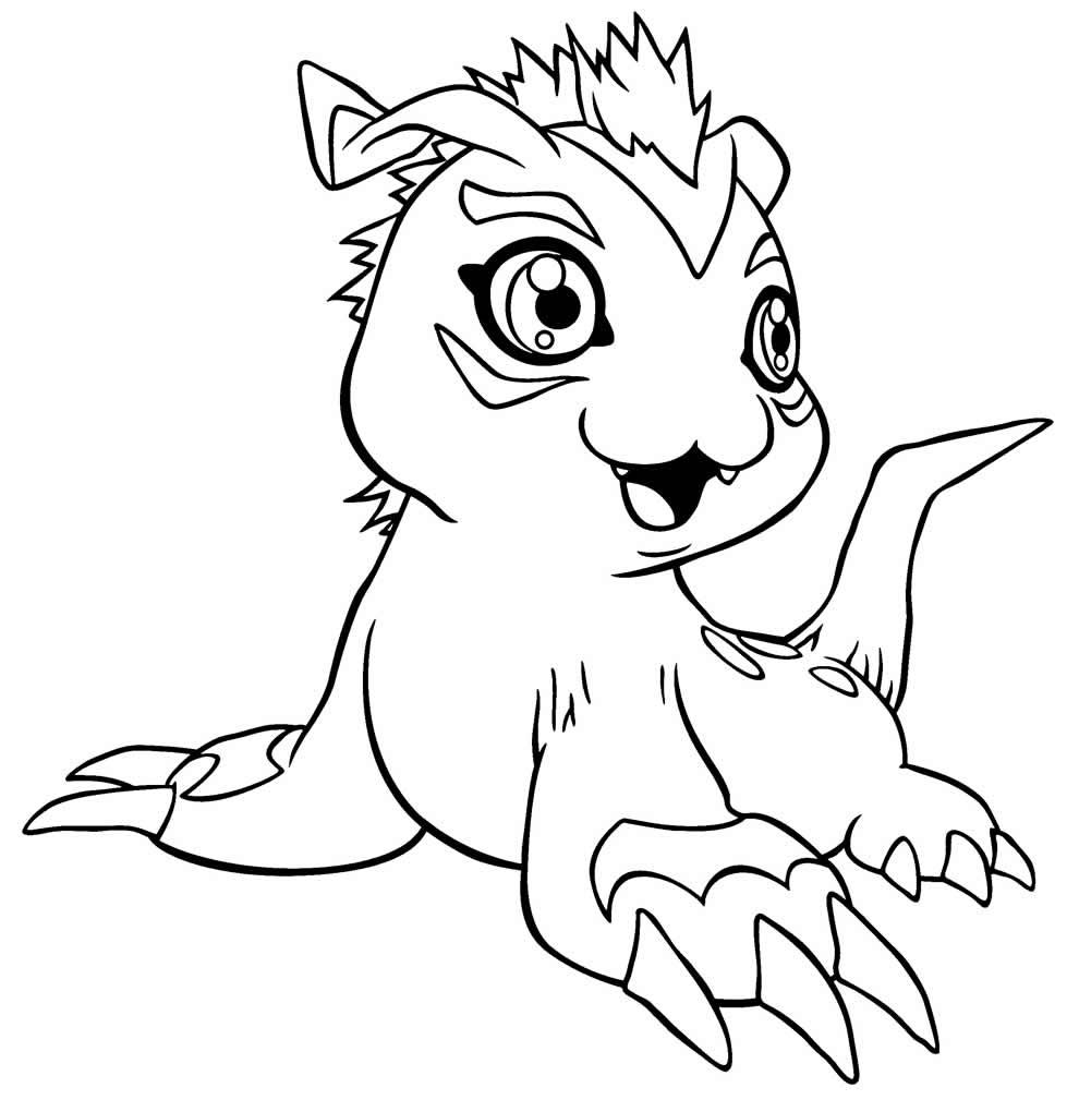 Desenho de Digimon para colorir