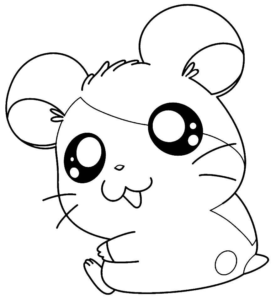 Desenhos de Hamtaro para pintar