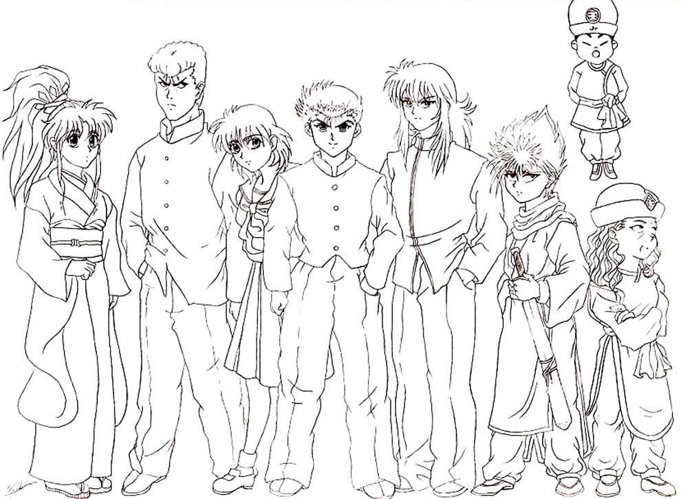 Desenhos de Yu Yu Hakucho