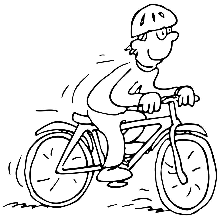Desenho de bicicleta para pintar
