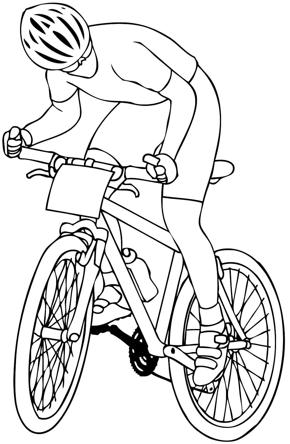 Molde de bicicleta para imprimir