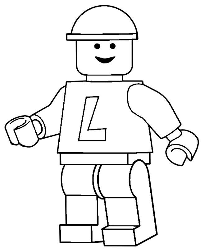 Imagem de brinquedo Lego para pintar