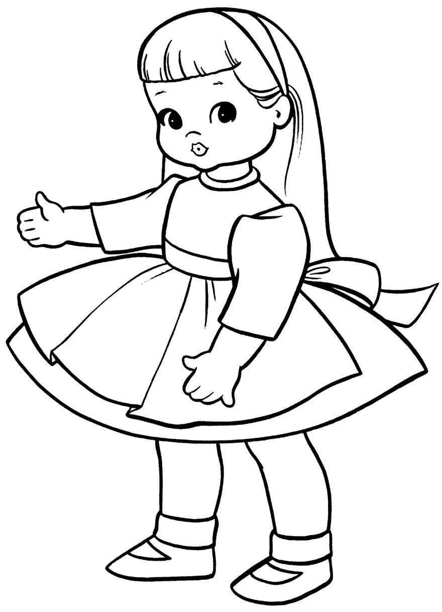 Imagem de boneca para pintar
