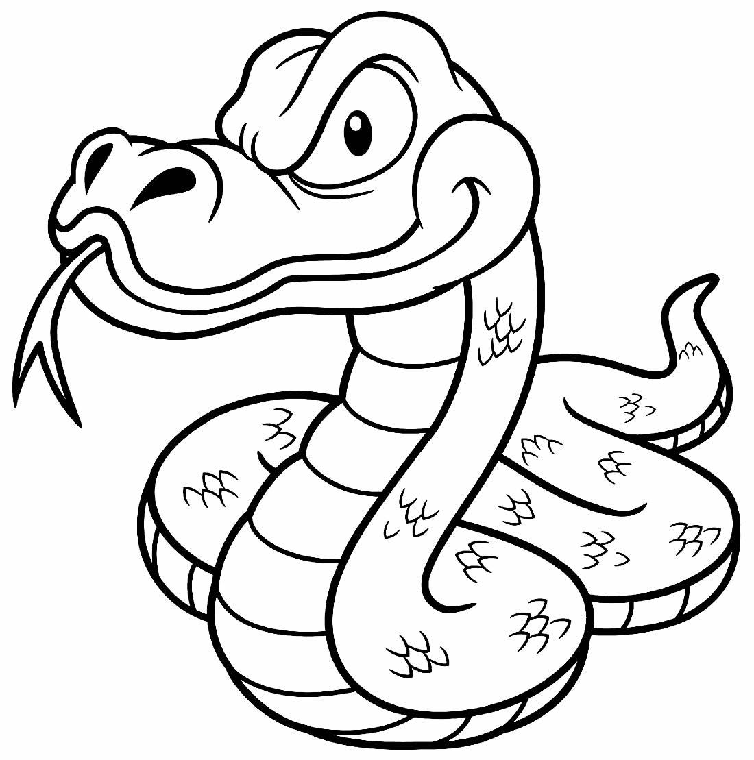 Desenho de cobra para pintar