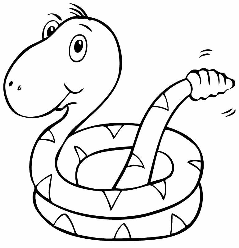 Imagem de cobra para pintar