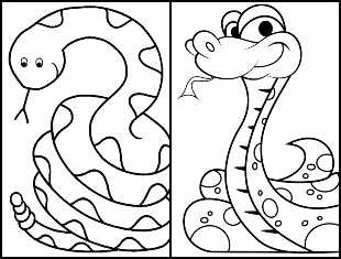 Desenhos de cobra para colorir