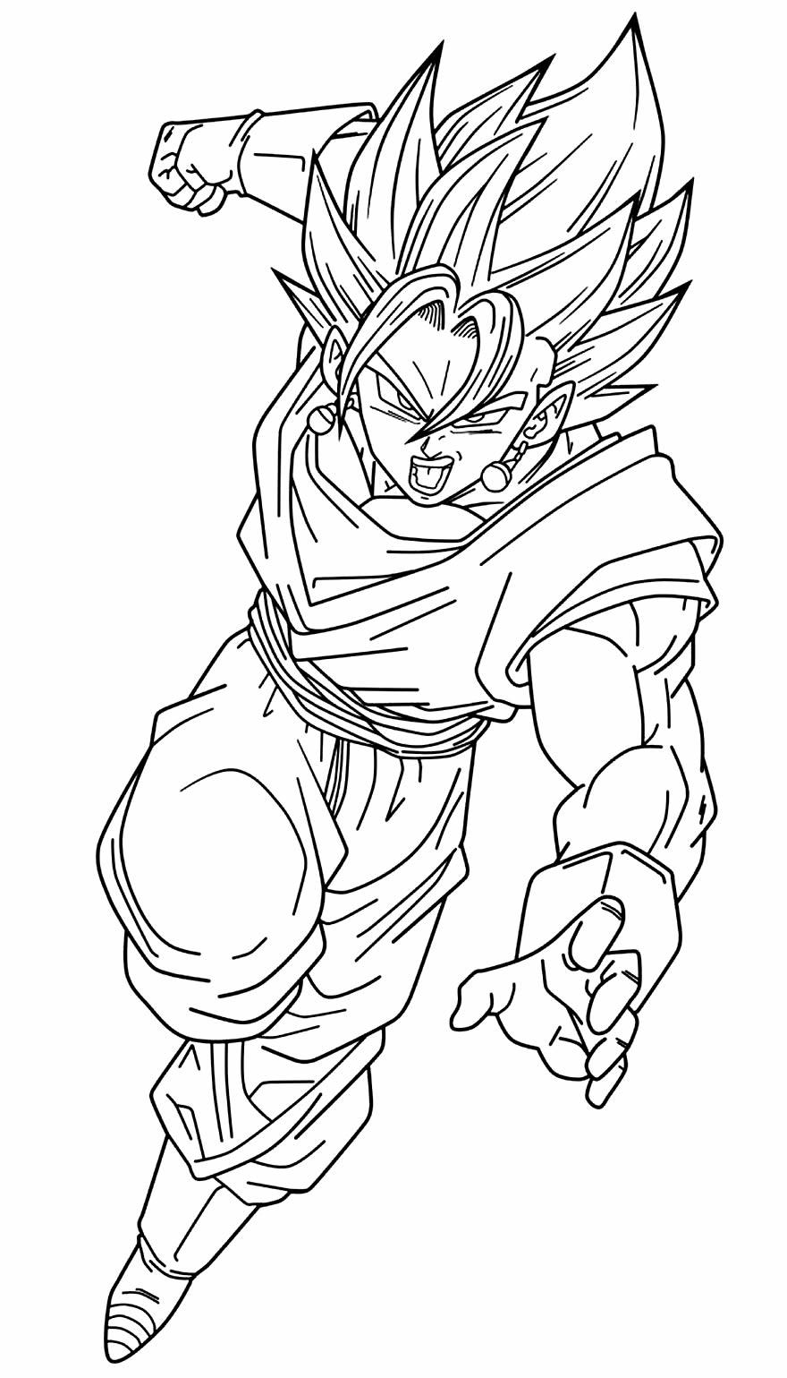 Desenho de Dragon Ball Z para colorir