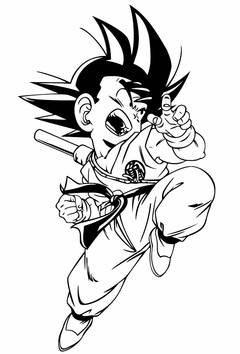 Imagem de Dragon Ball Z para colorir