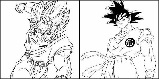 Desenhos de Dragon Ball Z para colorir