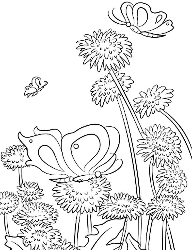 Desenho para colorir de inseto