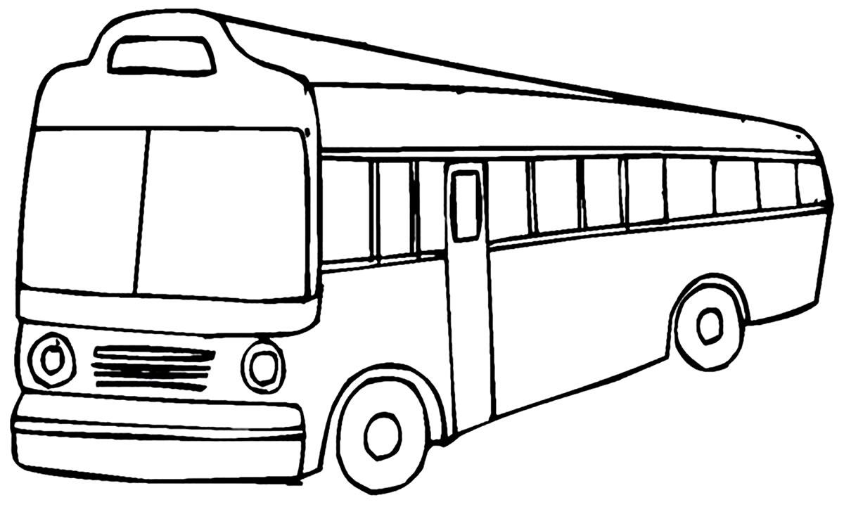 Desenho de ônibus para colorir
