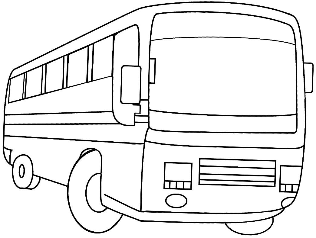 Imagem de ônibus para colorir