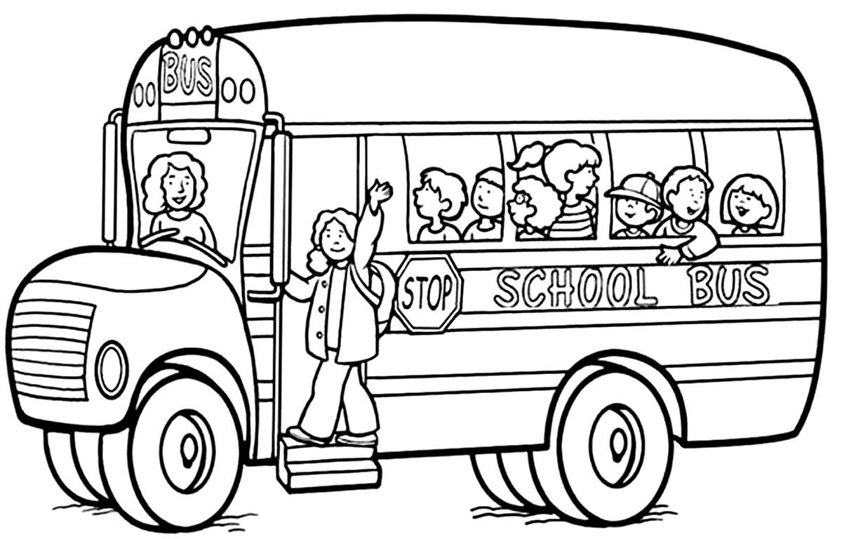 Imagem de ônibus para pintar