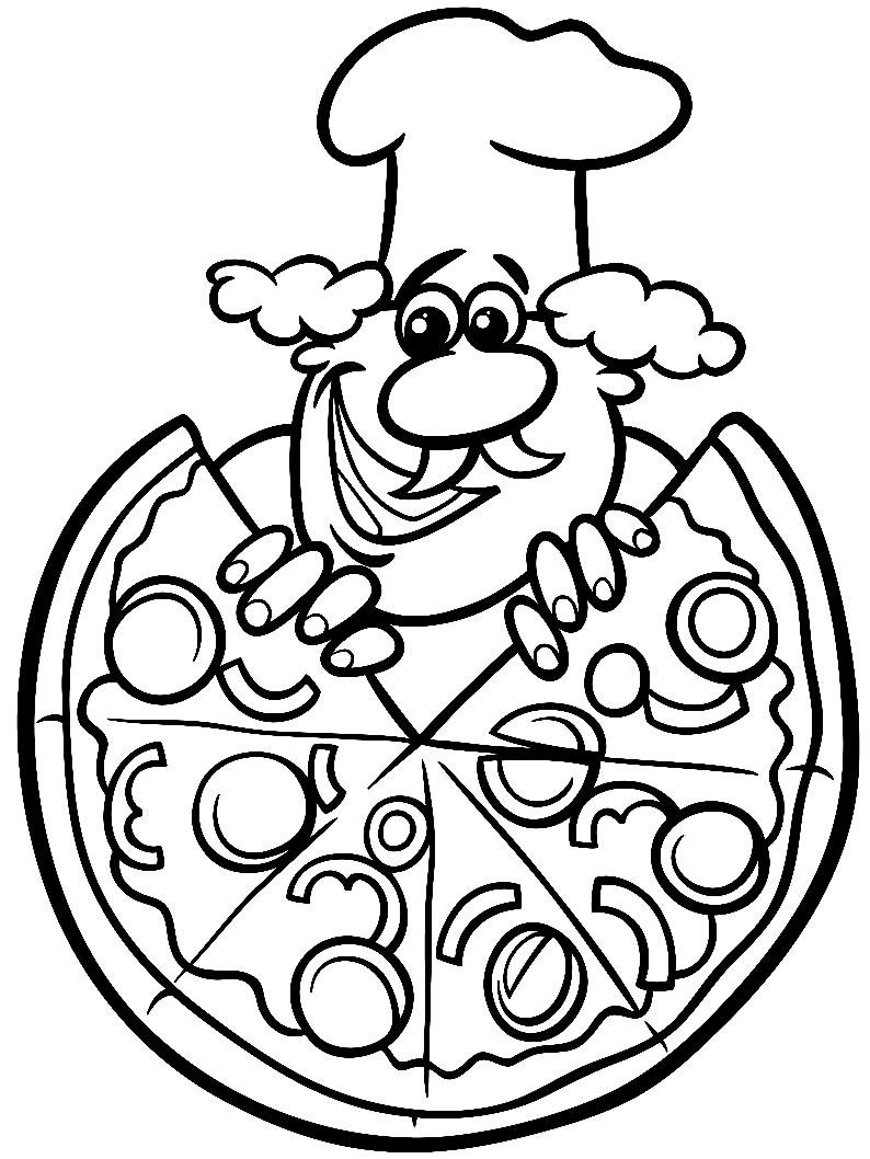 Imagem de pizza para pintar