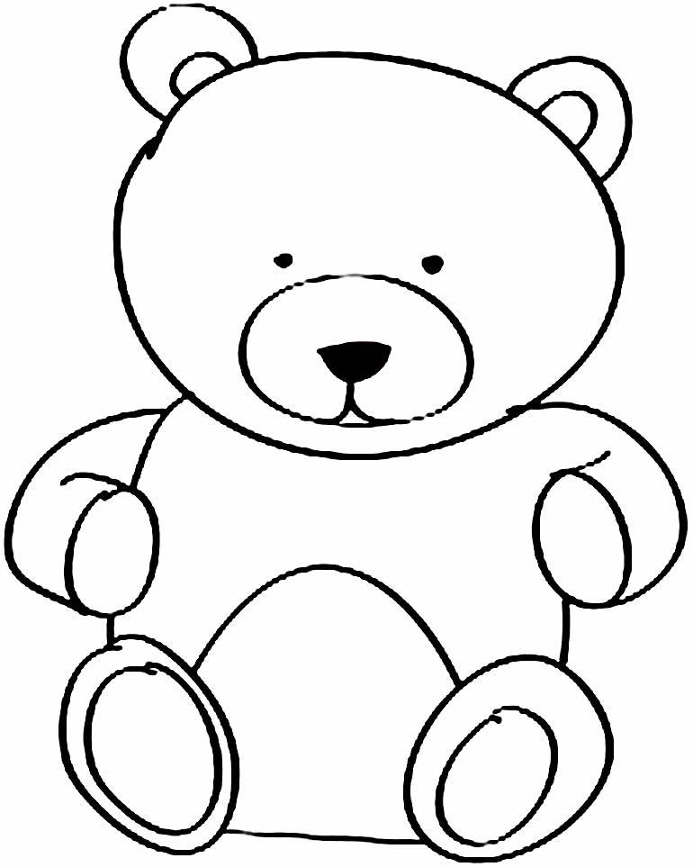Desenho de ursinho para colorir