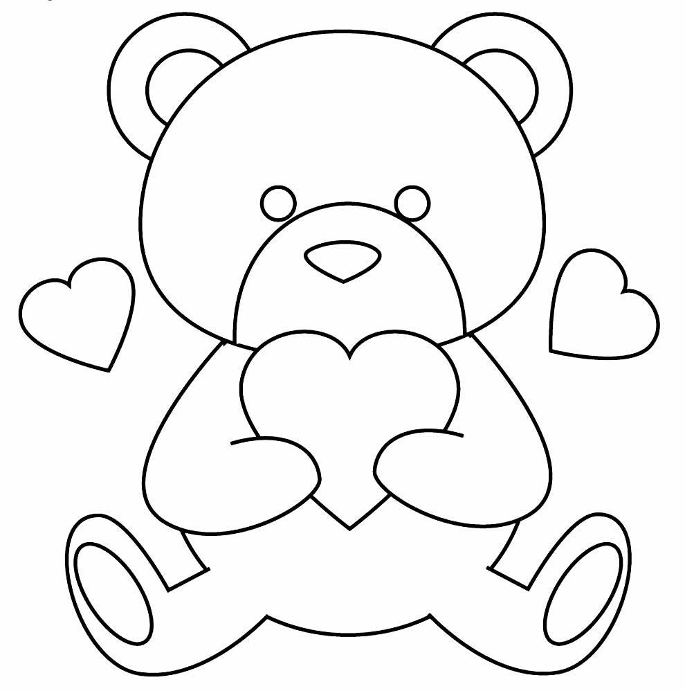 Imagem de ursinho para colorir