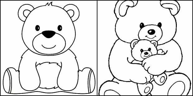 Desenhos de ursinho para colorir