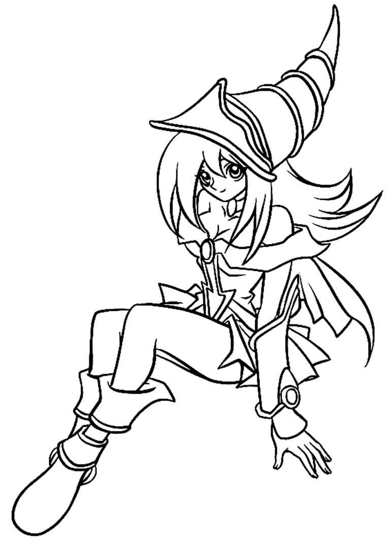 Imagem de Yu-Gi-Oh para colorir