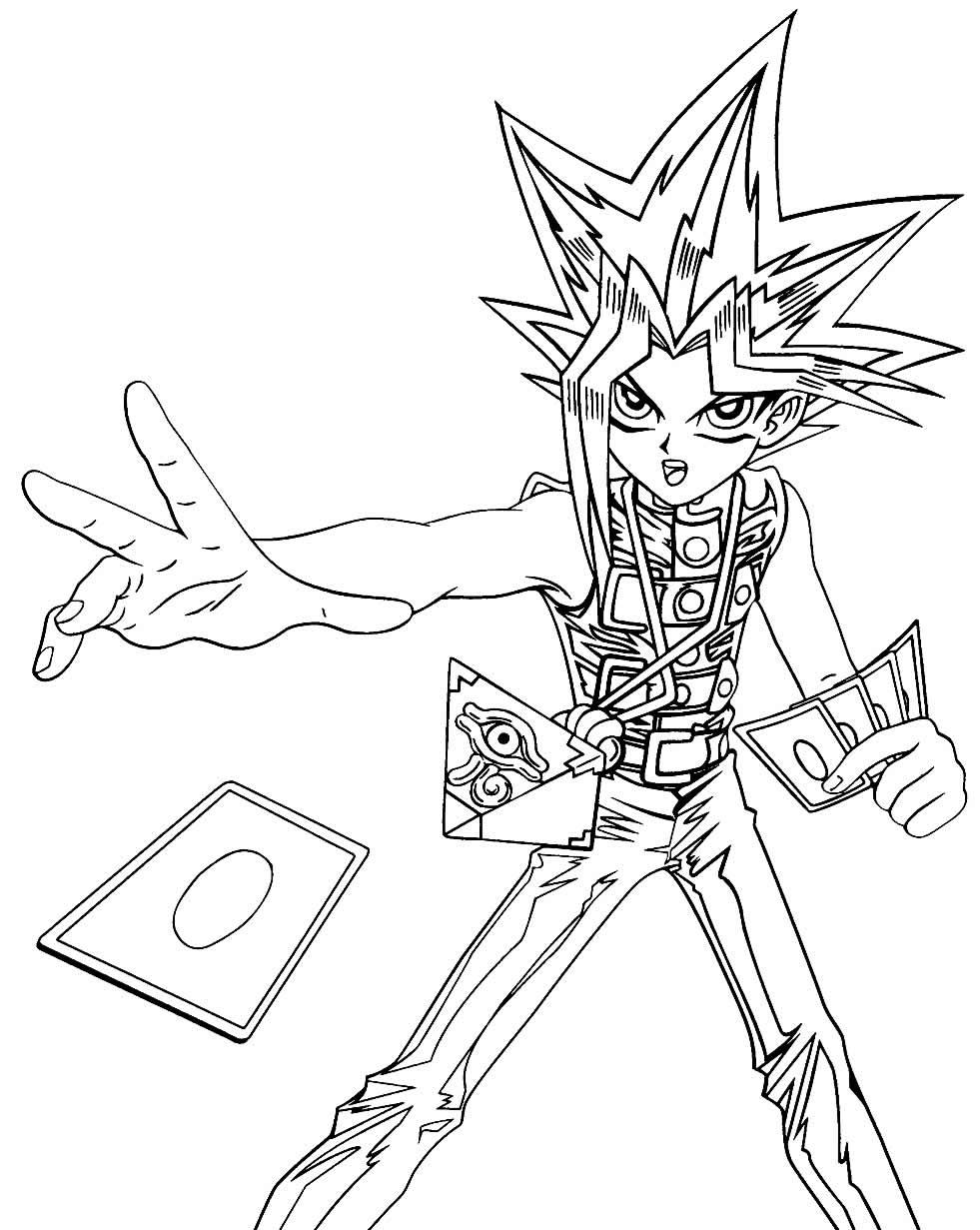Desenho de Yu-Gi-Oh para pintar