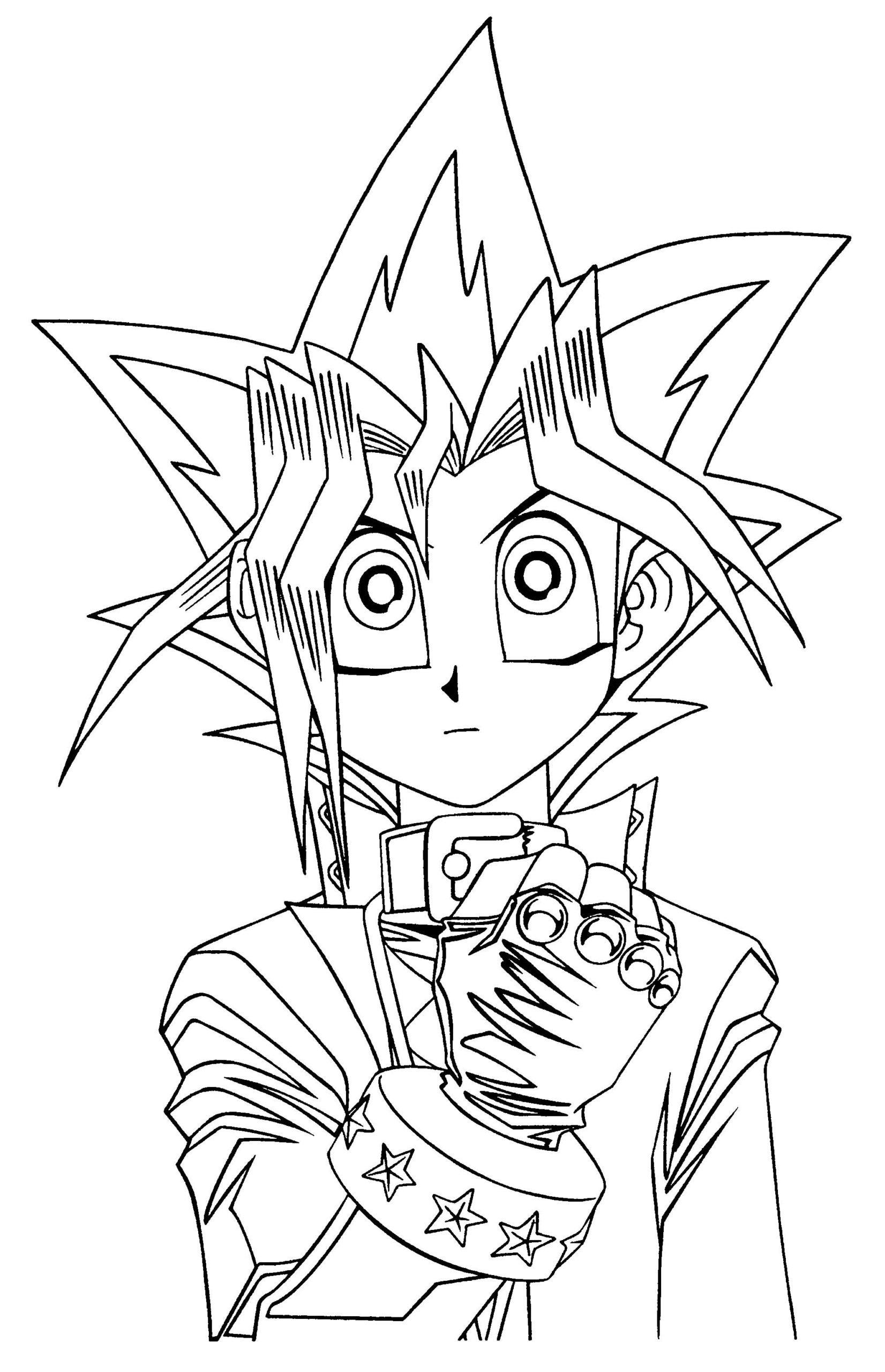 Desenho de Yu-Gi-Oh para colorir