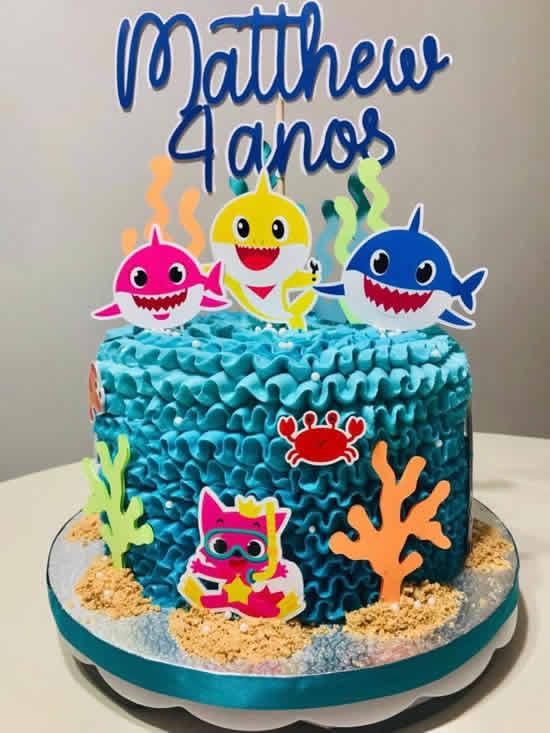Bolo para Festa Baby Shark