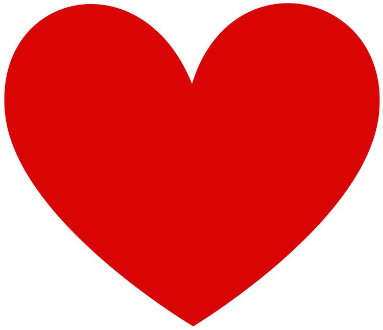 Lindo molde vermelho de coração