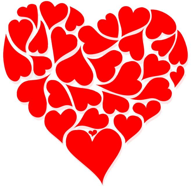Molde estilizado de coração