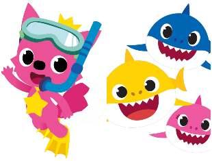 Lindos moldes para Festa Baby Shark