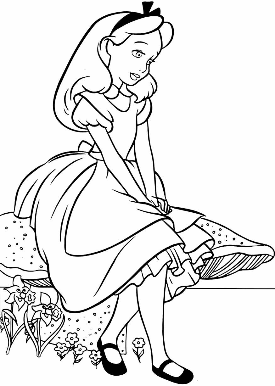 Molde de Alice no País das Maravilhas para colorir
