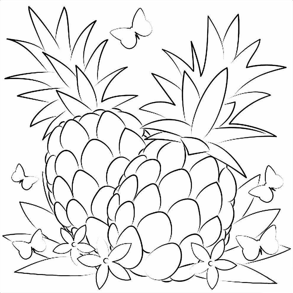 Imagem de Abacaxis para colorir
