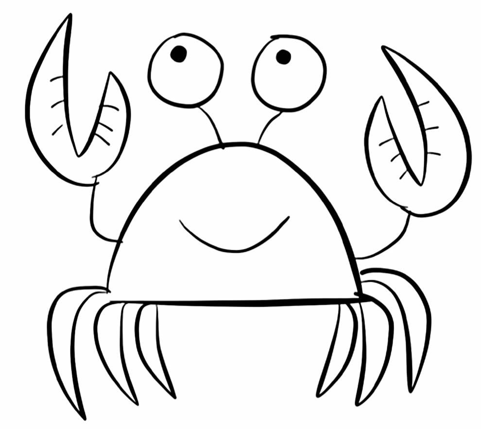 Desenho de Caranguejo para pintar