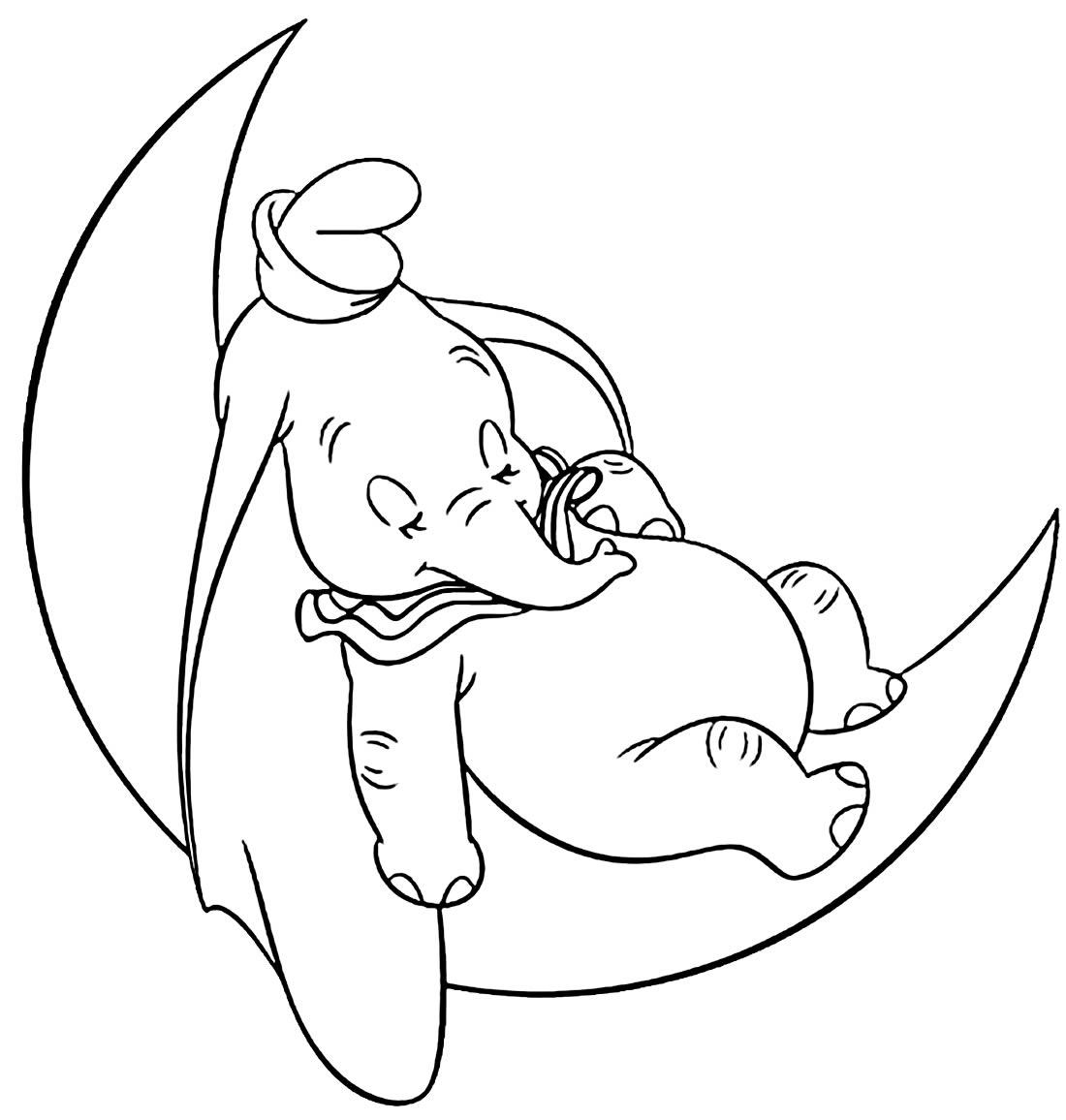 Imagem para pintar de Elefante