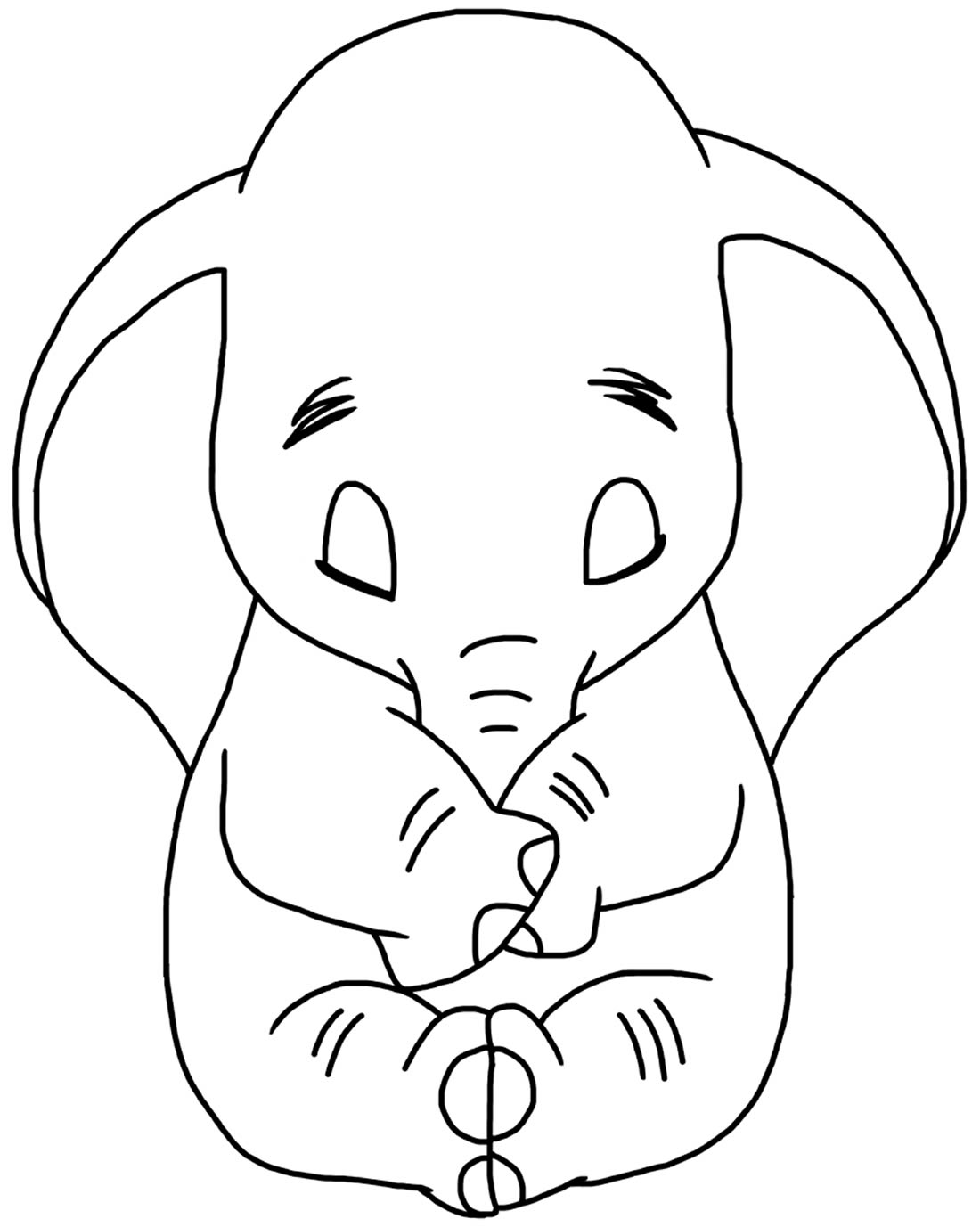 Desenho para pintar de Elefante