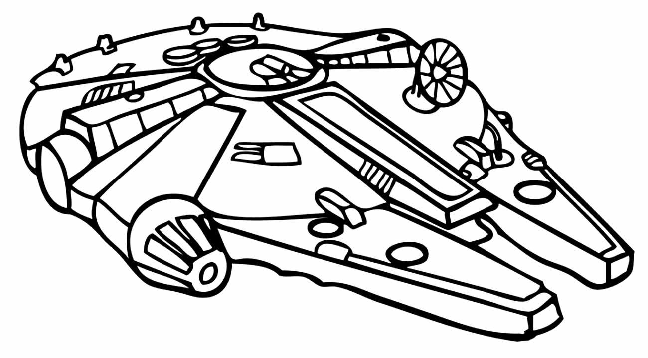 Desenho de Nave Espacial para colorir