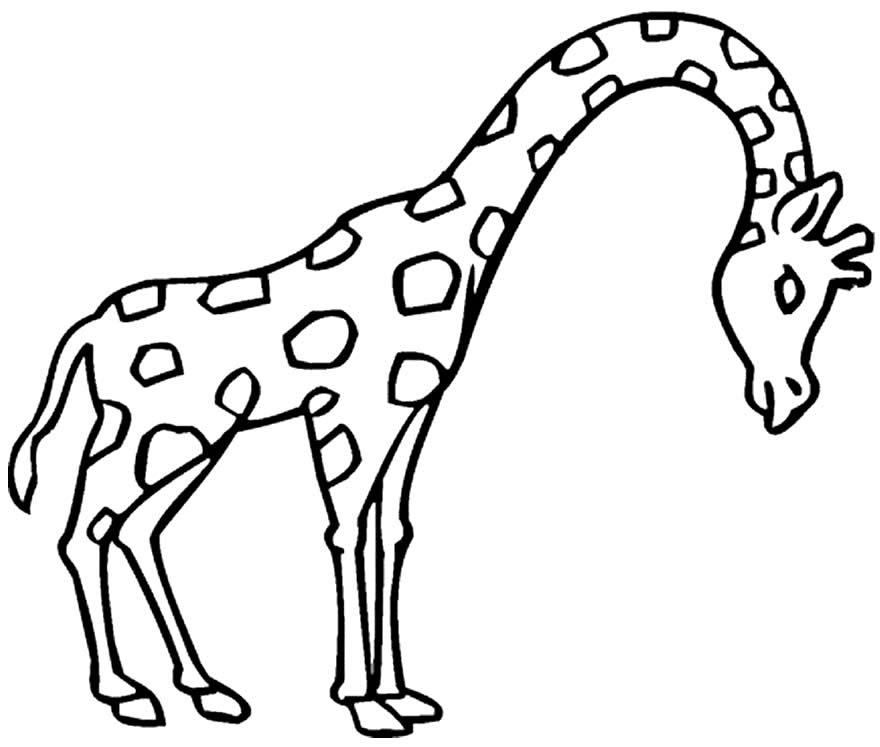 Molde de Girafa para imprimir