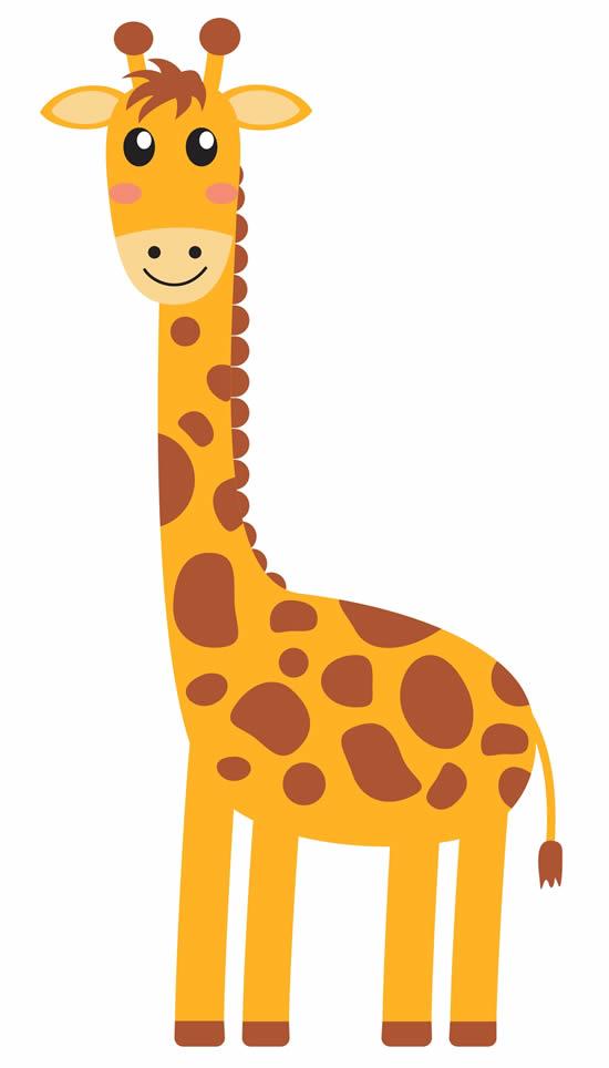 Desenho de Girafa