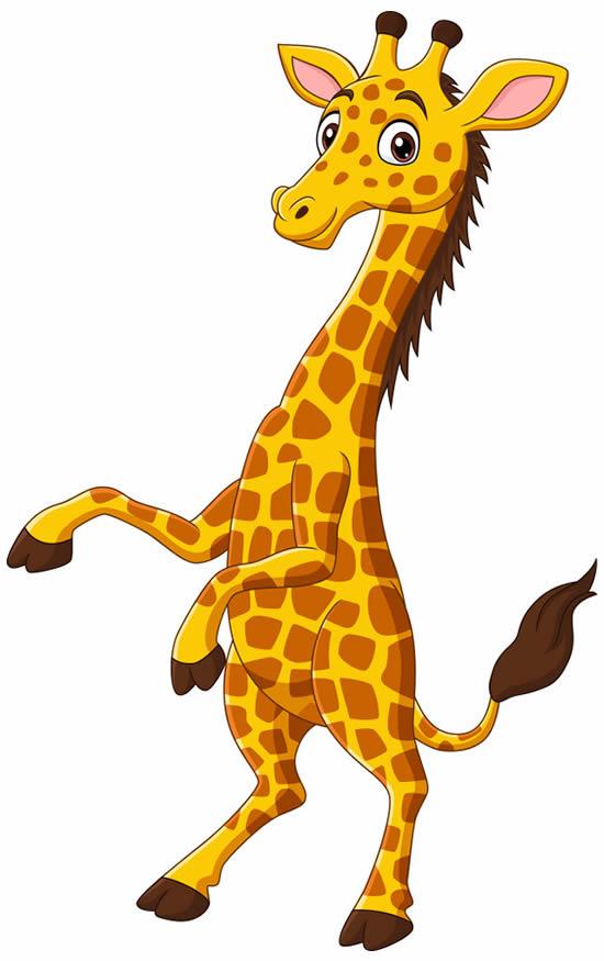 Desenho divertido de Girafa