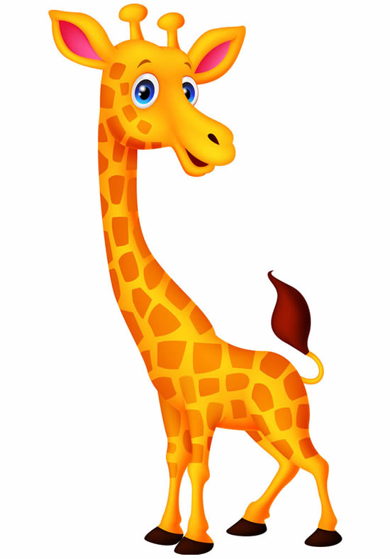 Desenho colorido de Girafa