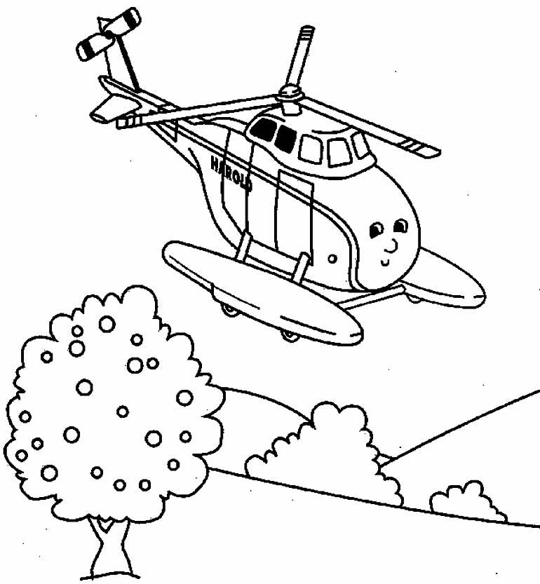 Imagem de Helicóptero para colorir