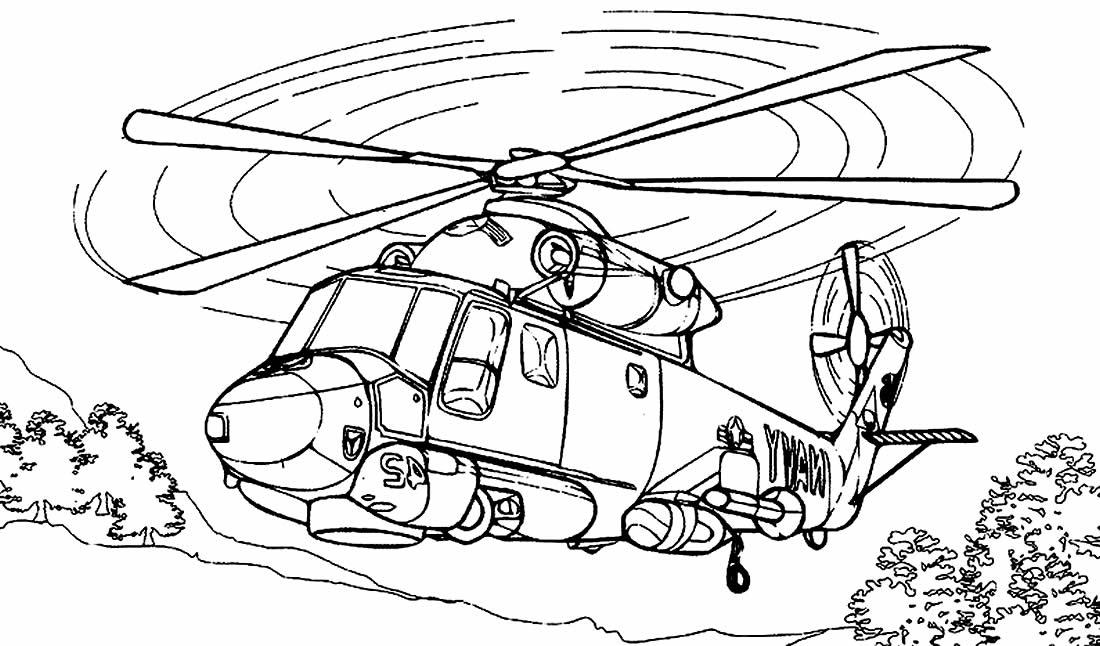 Desenho de Helicoptero para pintar