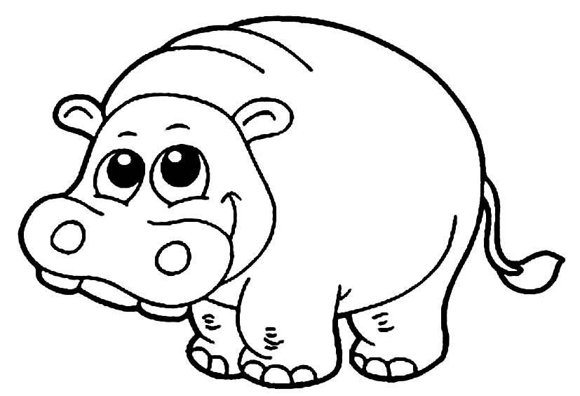 Imagem de Hipopótamo para pintar
