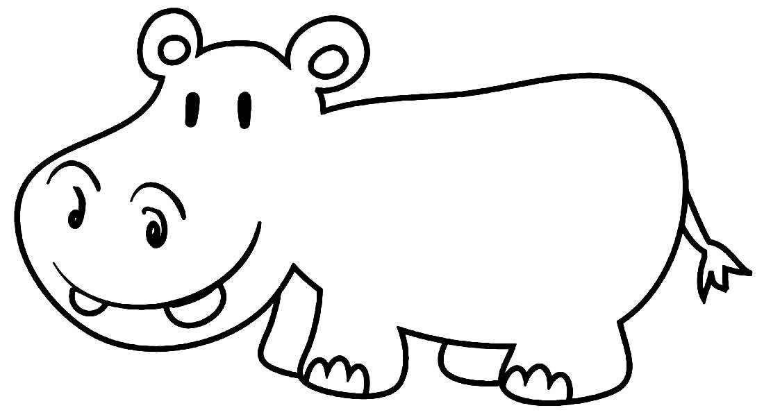 Desenho de Hipopótamo
