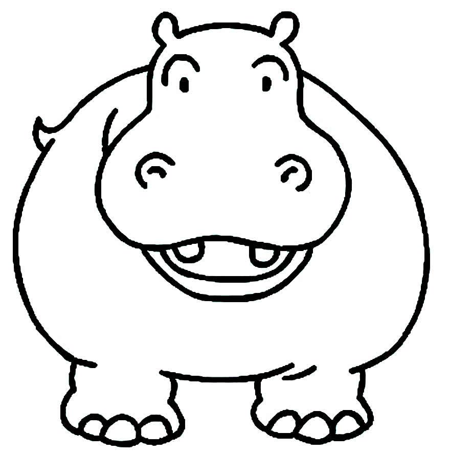Imagem de Hipopótamo para colorir