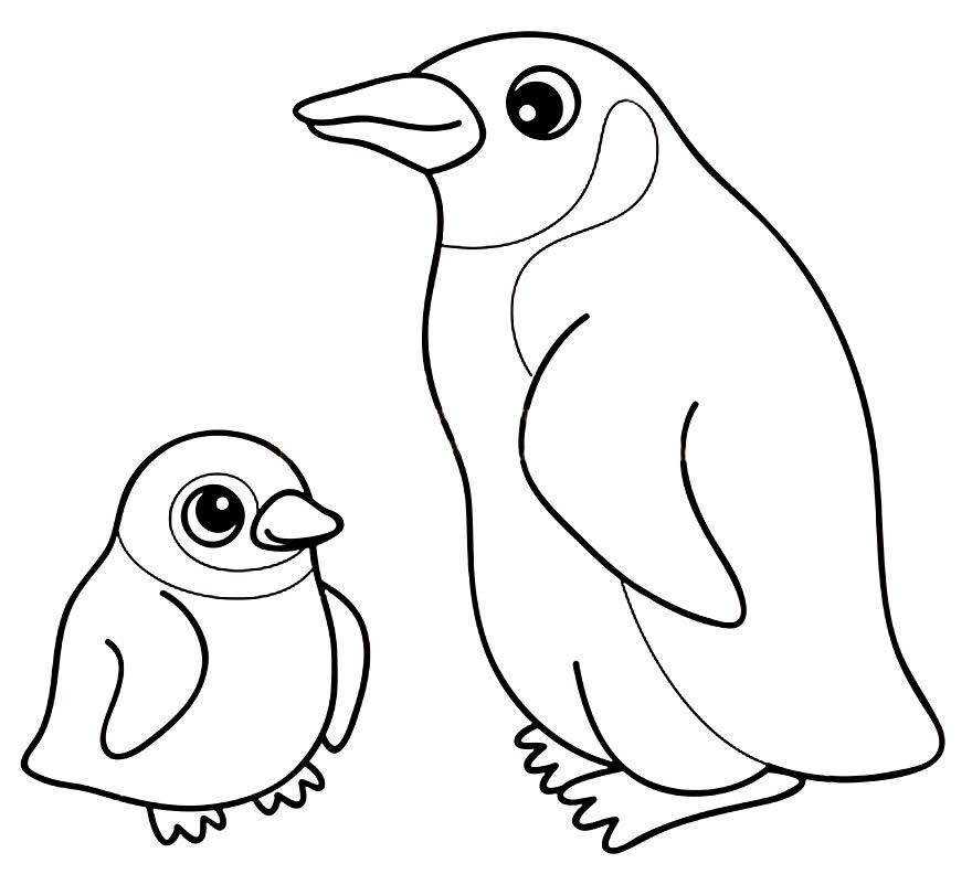 Imagem de Pinguim para colorir