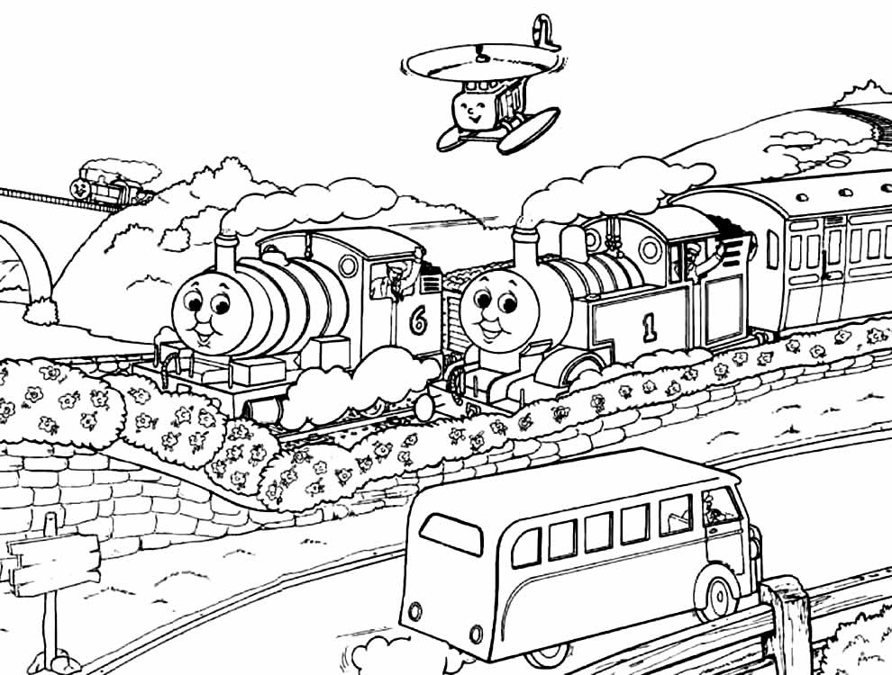 Imagem de Thomas e os Amigos para colorir