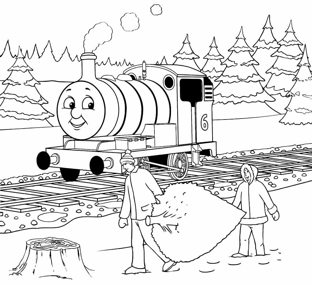Molde de Thomas e os Amigos para colorir