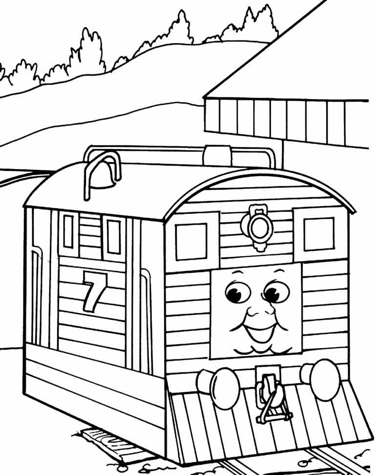 Desenho de Thomas e os Amigos para colorir