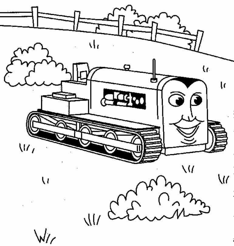 Desenho de Thomas e os Amigos para pintar